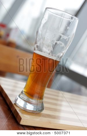 Glass Of Beer In Cafe