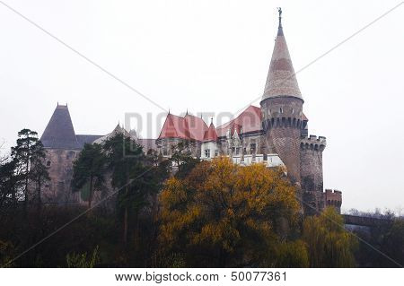 Corvin Castle Of Hunedoara In Romania
