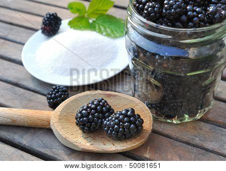 Blackberries For Homemade Jam