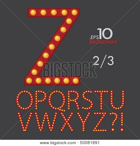Set Of Broadway Vector Alphabet O-Z