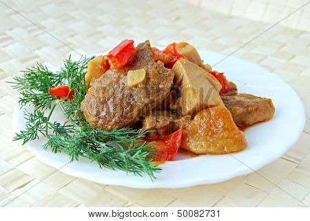 Meat Stewed With Cepes