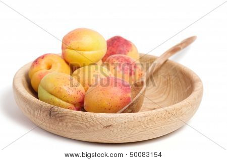 Tasty apricot isolated on a white background