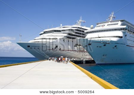 March 22, 2009 - Cozumel, Mexico - Cruise Ships In Port