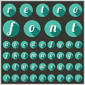 Retro type font, vintage typography, Vector eps10. poster