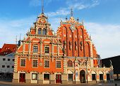 Blackheads House on the Town Hall square in Riga, Latvia poster