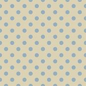 Seamless vector pattern, texture or background with baby blue polka dots on beige background for web design, desktop wallpaper, winter blog, website or invitation card. poster