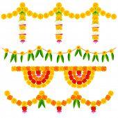 illustration of colorful flower arrangement for festival decoration poster