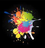 Color splash background in editable vector format. poster