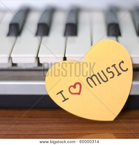 Piano And Heart from Paper