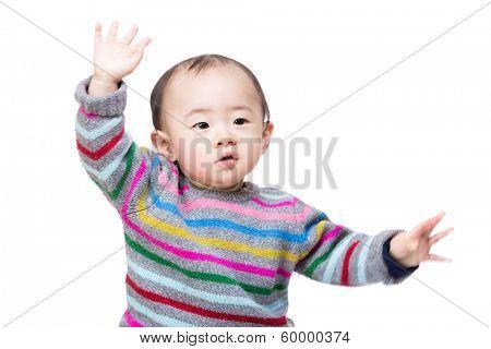Asian baby boy dance