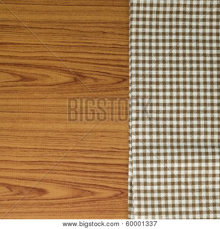 Kitchen Towel On Wood Background
