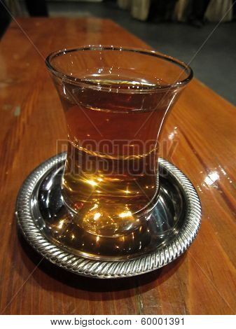 Turkish tea in a traditional glass