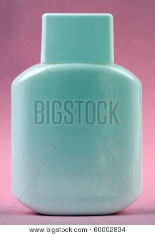 Perfumery Bottle On Pink Background