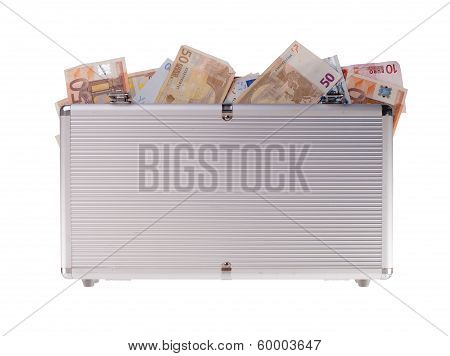 Metal Case Filled With Money