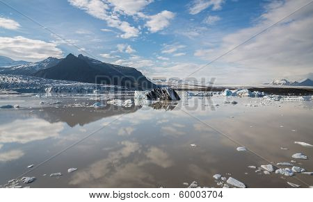 Glacier tonque and mountains