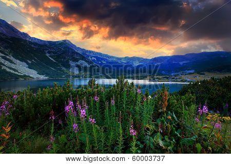 Hdr Lake In Rila Mountain