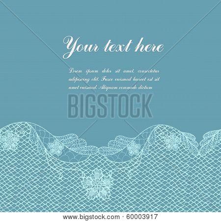 blue vintage lacy border