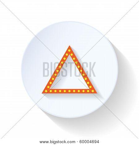 Emergency sign flat icon