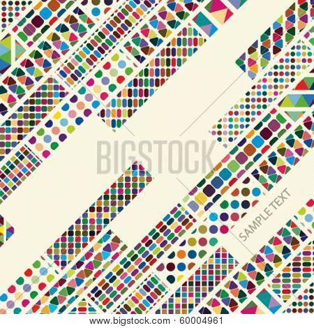 Multicolor abstract bright background. Elements for design. Eps10.