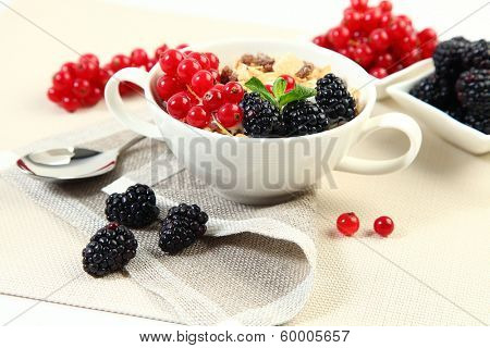 cocktail with sweet fruits and berries
