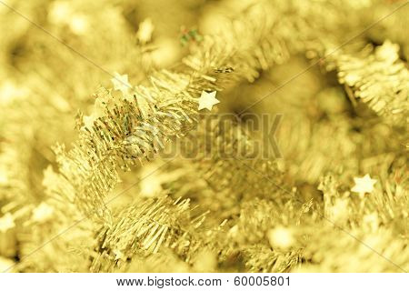 Tinsel. Christmas Decoration.