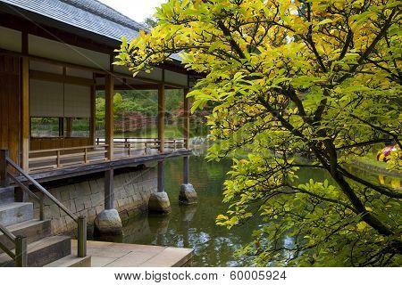 Tea House In Japanese Garden, Hasselt, Belgium