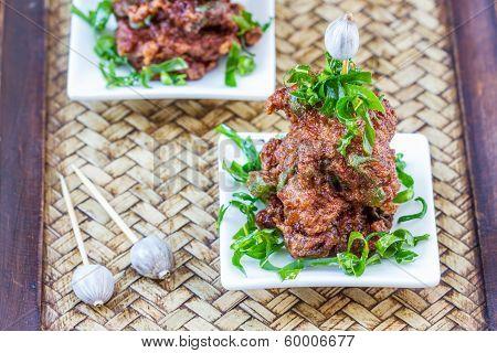 Fried Fish Cakes Thai Food