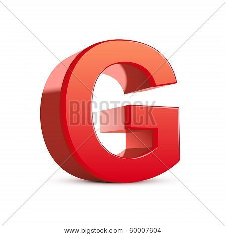 3D Red Letter G