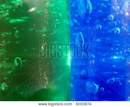 Green and Blue Gel Bubbles
