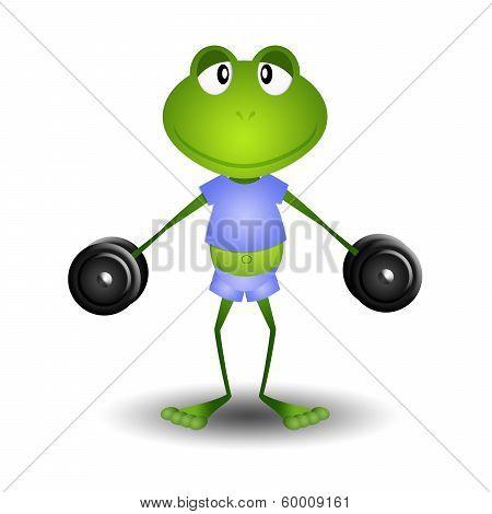 Frog Doing Fitness