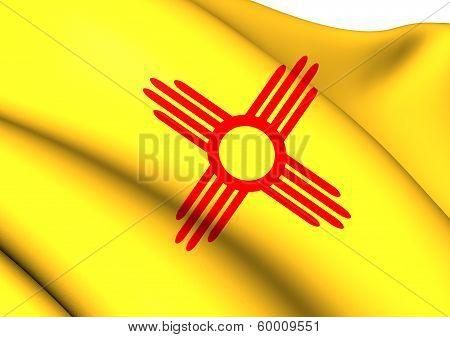 Flag Of New Mexico, Usa.