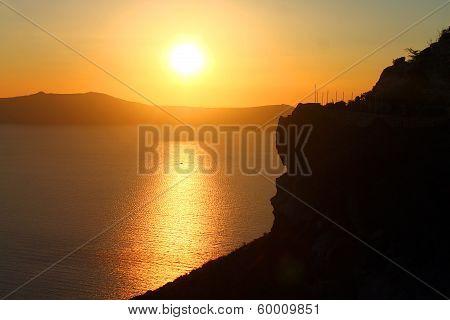 Deep Yellow Sunset