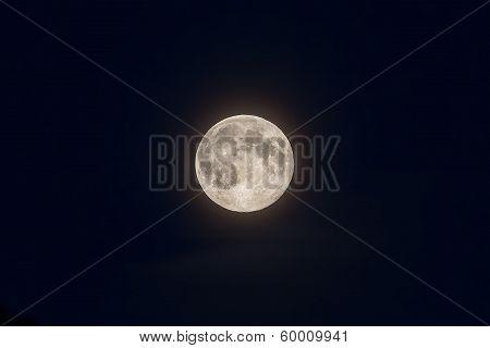 Full Moon On Deep Blue Sky
