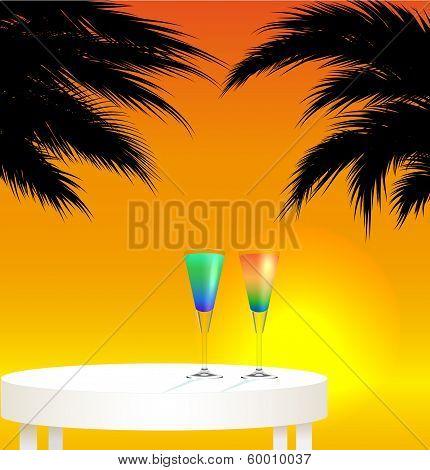Tropical trip concept