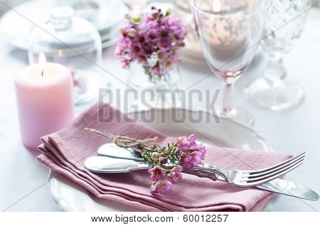Festive Wedding Table Setting