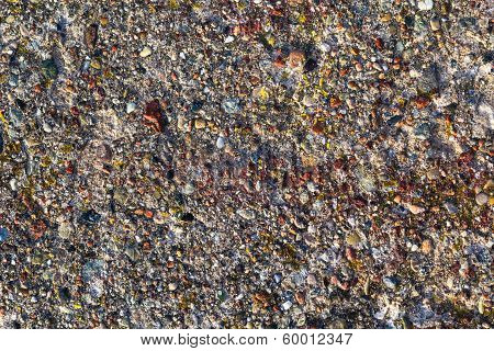 Background Concrete Wall Colored Stones
