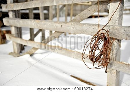 Old Farm Wooden Fence