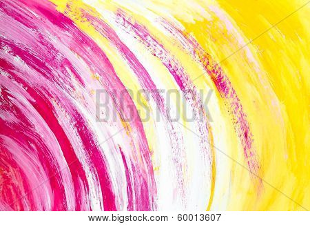 Yellow Watercolor Background Colored Circles