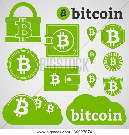 Bitcoin Currency Icons Set