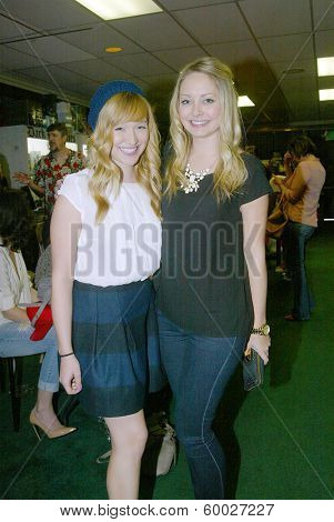 BURBANK, CA - FEBRUARY 16: Sarah Stouffer and Chloe Crampton  attend the