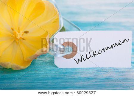 Label With Willkommen