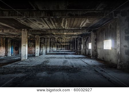 old abandoned building, urban background