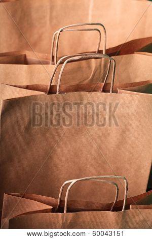 Closeup of recycling Shopping Paper Bags