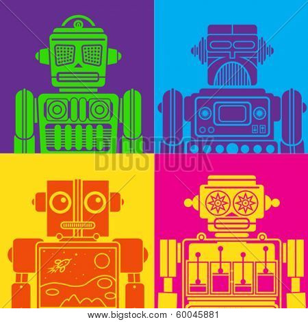 Vintage Tin Toy Robot Pop Art