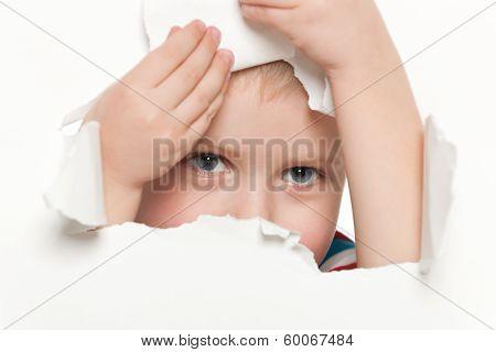 Curiosity Of A Cute Little Boy