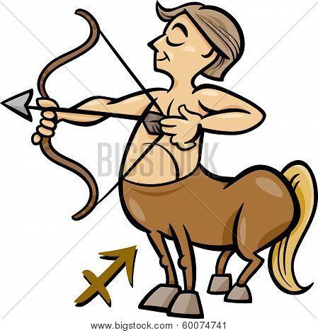 Sagittarius Zodiac Sign Cartoon