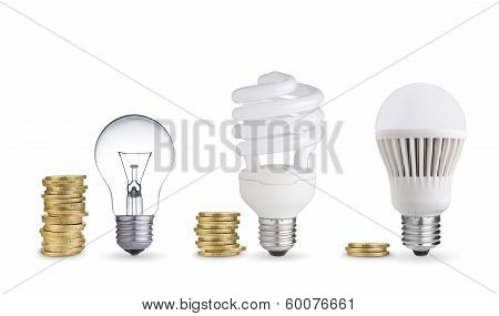 bulbs and coins