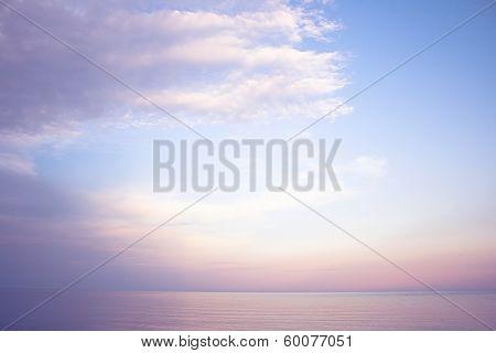 sky clouds sea ocean water lilac