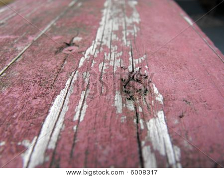 Dry wood board paint close-up