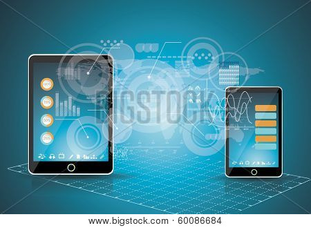 Mobile Phones Technology Business Concept.
